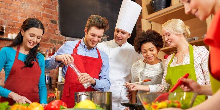Naučte se vařit od šéfkuchaře z povolání: kurzy s neomezenou konzumací nápojů