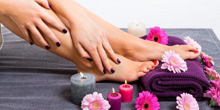 Péče o nehty: Manikúra či pedikúra s lakováním nebo gel lakem