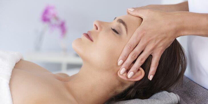 Kosmetické ošetření pleti včetně masáže obličeje lávovými kameny