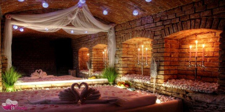 Dvě hodiny romantiky v privátním wellness pro dva – případně i s občerstvením