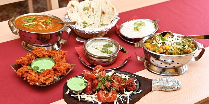 Poznejte spolu indickou kuchyni: tradiční 3chodové menu v restauraci u Vltavy