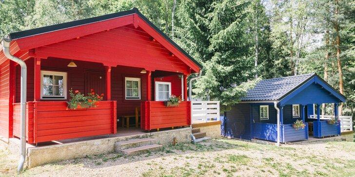 Pobyt v severském srubu v Lužických horách a finská sauna pro 2 až 4 osoby