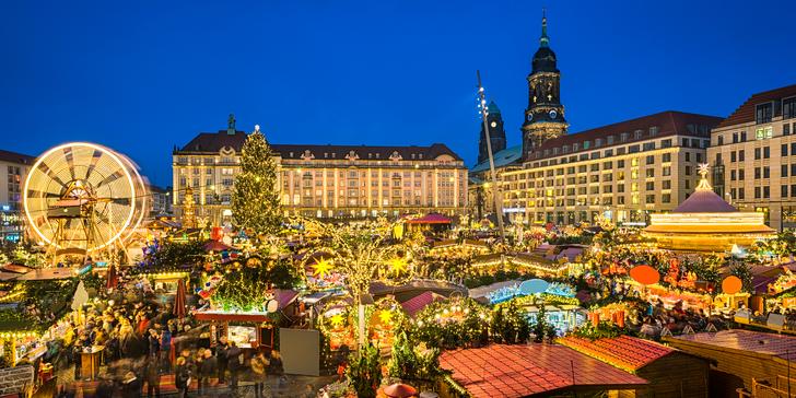 Vánočně vyzdobená Pirna, pevnost Königstein a adventní trhy v Drážďanech