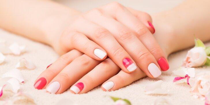 Kompletní úprava rukou: manikúra s gel lakem a zdobením