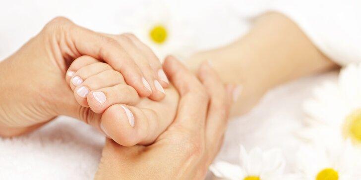 Reflexní masáž plosky nohou nebo kompletní masáž nohou