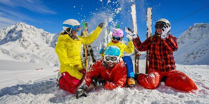 Italské Alpy od prosince do března: doprava, 2 noci v hotelu, polopenze a skipas