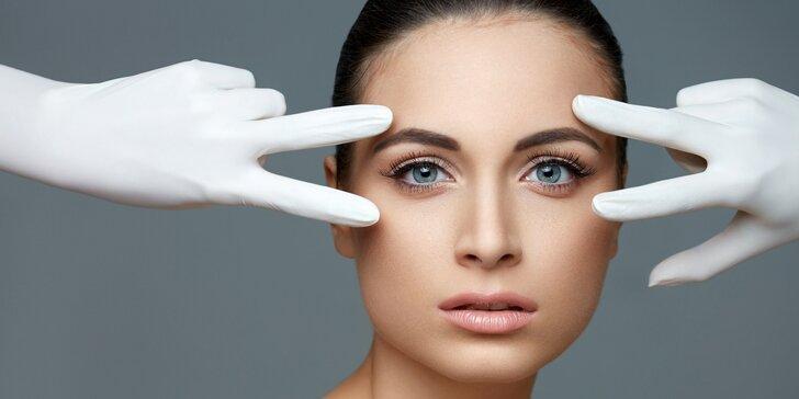 Kosmetické ošetření pleti s intenzivní péčí o oční okolí