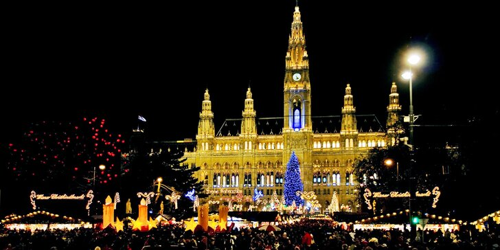 Adventní výlet do Vídně s odjezdy více než 15 měst kromě Prahy, Jihlavy a Brna