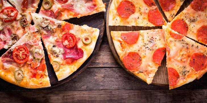 Nechte si chutnat: 2 pizzy podle vašeho gusta včetně rozvozu