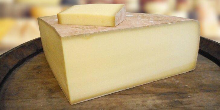 Savojský sýr Meule de Savoie Réserve s chutí ořechů k vyzvednutí v pasáži Lucerna