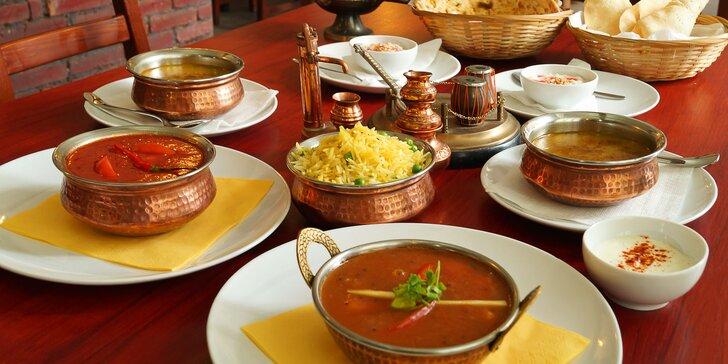 Nové vynikající indické menu pro dva včetně chodů pro vegetariány