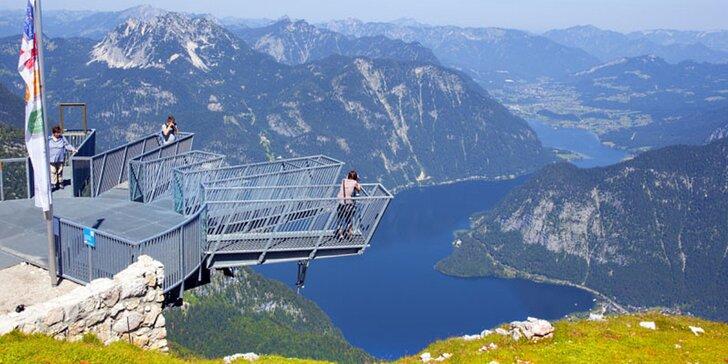 """1denní výlet do rakouského Dachsteinu - vyhlídka """"Pět prstů"""" a Mamutí jeskyně"""