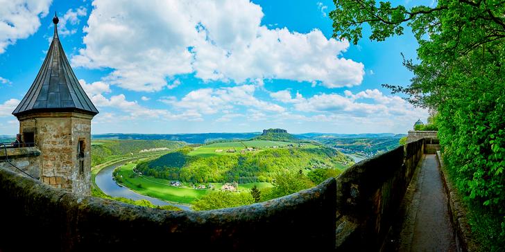 1denní výlet do Saského Švýcarska - stolové hory, skalní města a podvečerní relax
