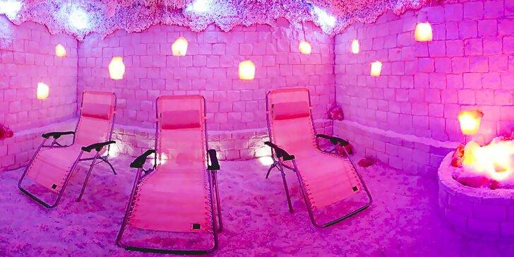 Blahodárná noc v solné jeskyni AniKa s ranní kávou či čajem pro 1 osobu