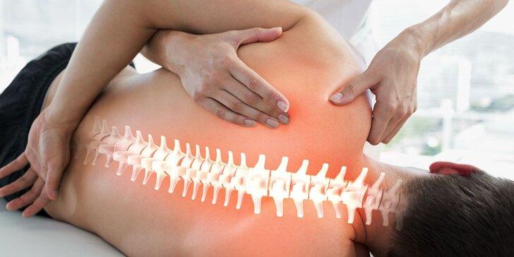 Fyzioterapie: vstupní konzultace, diagnostika a sestavení terapeutického plánu