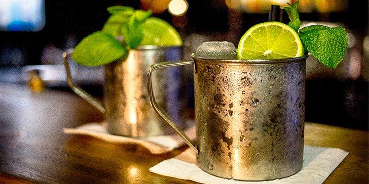 Artový bar s galerií na Vinohradech: 1, 2 nebo 4 drinky Moscow Mule či Tom Colins