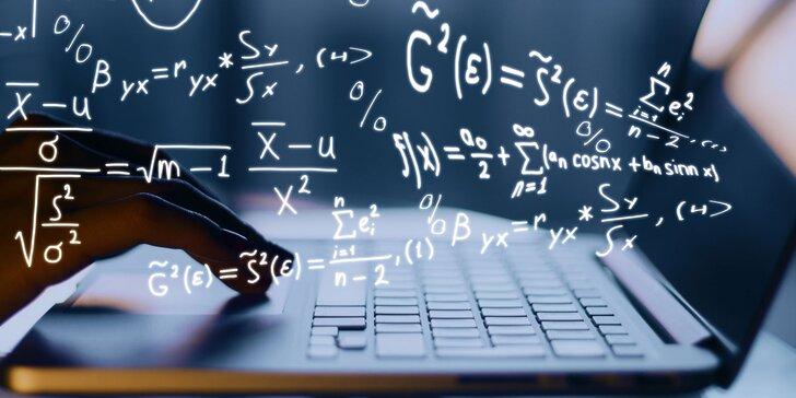 Online video kurz matematiky Jak nevyletět v prváku z matiky