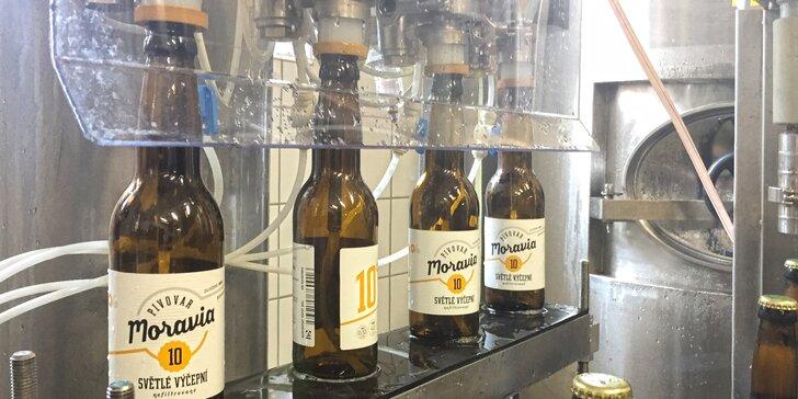 Komentovaná prohlídka pivovaru Moravia s průběžnou ochutnávkou i dárkem