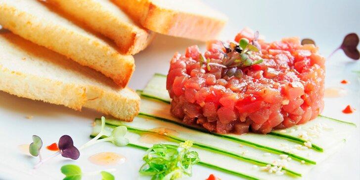 Rybí degustační menu pro dva: 5chodové potěšení z jídla