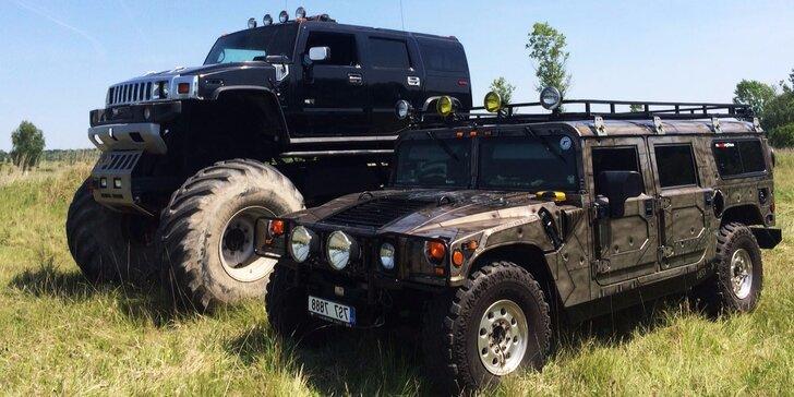 Obr zážitek: 25 minut řízení Hummer Monster Trucku na off road dráze