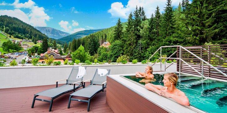 Jarní pohoda v Peci pod Sněžkou: luxusní apartmán, polopenze a wellness