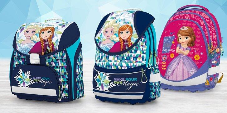 Aktovky a batohy pro malé školačky s Frozen, Soy Lunou a Sofií První