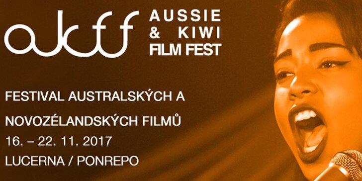 2 vstupenky na festival australského a novozélandského filmu v kině Lucerna