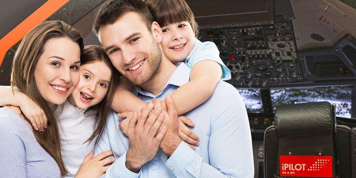 Připoutejte se, zábava začíná: 60 nebo 90 minut na leteckém simulátoru pro rodinu