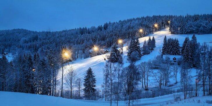 Zimní lyžovačka nebo jarní dovolená v Jizerkách s wellness a polopenzí