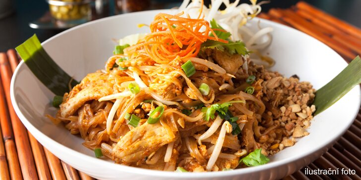 Zkusíte hovězí, kuřecí, či s krevetami? Vyhlášené nudle Pad Thai a předkrm i dezert