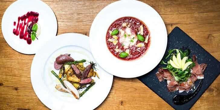 V italském stylu: degustační menu o 4 chodech v restauraci u náměstí