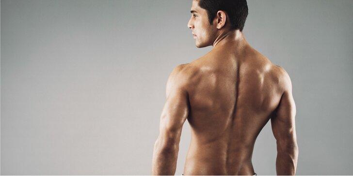 Depilace hrudníku a břicha nebo zad cukrovou pastou pro pány
