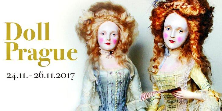 Vstup na mezinárodní výstavu uměleckých panenek ve Slovanském domě
