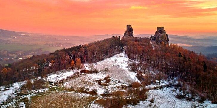 Nejvyšší hora Českého ráje: Kozákov s polopenzí, lyžováním a výhledy jak sen