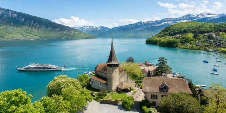 Za krásami Švýcarska: historický Thun u jezera, hrad Oberhofen i městečko Spiez