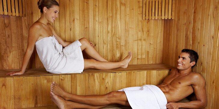 90 minut saunování pro 2-6 osob + 15 minut Kneippův chodník