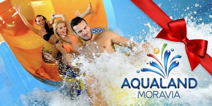 Celodenní vstupenky do Aqualandu Moravia včetně wellness procedur