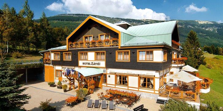 Jaro a léto v horském hotýlku ve Špindlerově Mlýně s wellness a polopenzí