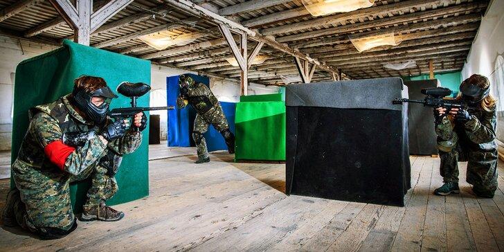 Akční paintballová střílečka v hale: vyberte si z 10 scénářů & hrajte