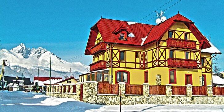 Aktivní zima pod Lomnickým štítem: Polopenze, sauna a slevy do aquaparků