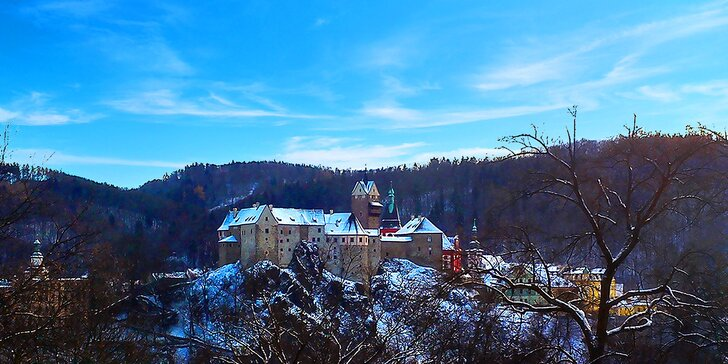 Romantika s výhledem na hrad Loket: 1–2 noci s bohatou snídaní pro dva