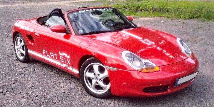 Zapůjčení nadupaného kabrioletu Porsche Boxster na celý víkend