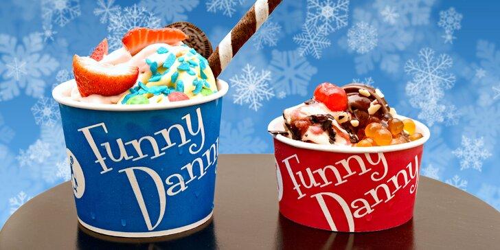Touhle zimou vás provede tučňák: 200g mražený jogurt Funny Danny s posypem
