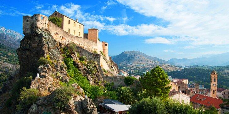 Kouzlo Korsiky: Dovolená plná výletů a krás Napoleonova ostrova pro 1 osobu