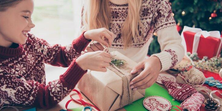 2 hodiny tvoření a inspirace: vánoční dílny pro děti i dospělé na Malé Straně