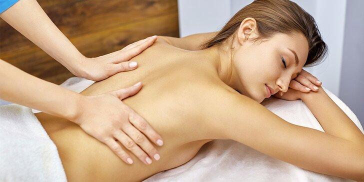 45 nebo 90 minut klasické uvolňující masáže: záda a šíje nebo celé tělo