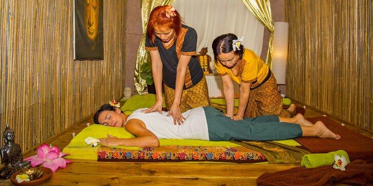 30, 60 i 90 minut různých druhů thajských masáží pro jednoho i pro pár