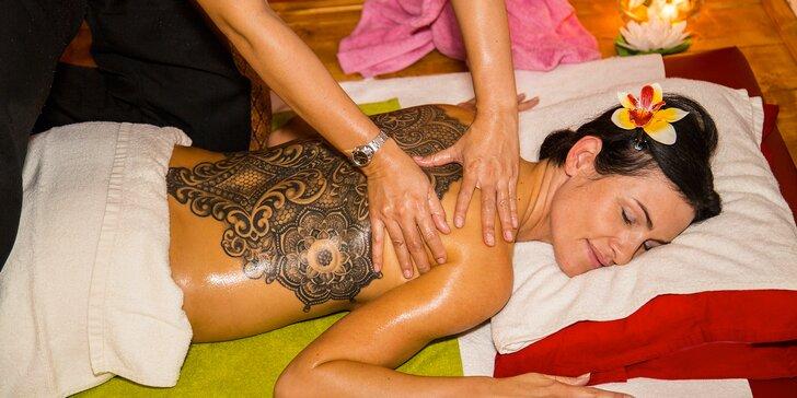 Relax, jak má být: aroma, thajská, kokosová či párová masáž a zahřátí v infrasauně
