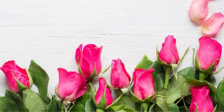 Nádherný pugét z holandských růží či tulipánů včetně dopravy