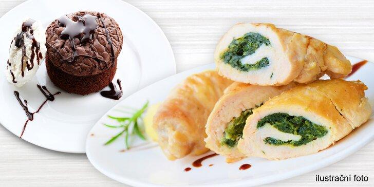 """Vyladěné 4chodové degustační menu s """"mezichody"""" a dezertem pro dva"""